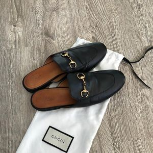Gucci loafers mules sz 37 black